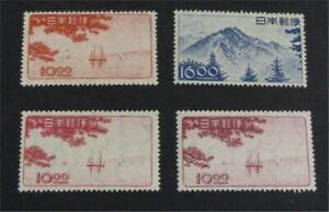 nystamps Japan Stamp # 439-442 Mint OG H $58   L23y484