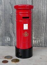 Spardose roter Briefkasten London rot Metall Reise England Sparschwein Mailbox
