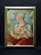 Rene Jacob Mendes-France (1888-1985)Mère à l'enfant Allaitement Mendes de França
