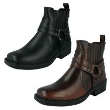 A3027- Mens Maverick Chelsea/Biker Style Ankle Boots- Black & Brown- Great Price