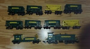 K LINE K-22421C KENNECOTT COPPER CORP MP-15 DIESEL set with ore cars and light