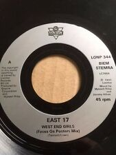 """EAST 17 7"""" - WEST END GIRLS - FACES ON POSTERS MIX & KICKING IN CHAIRS - LONP344"""