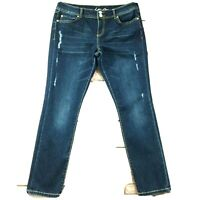 """Inc. Womens Jeans size 8 new Dark Wash Straight Leg Ankle x29"""" in Cotton Stretch"""