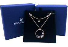 NEW Authentic SWAROVSKI Rose Gold Crystal Double Layer Chain Necklace 5493390