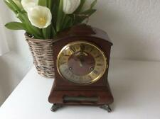 WARMINK WUBA Dutch 8 day Vintage wallnut Wood Mantel Clock Double BELL Chime