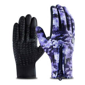 Winter Cycling Gloves Bicycle Warm Full Finger Gloves Waterproof Bike Riding