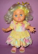 Vintage Baby Face Doll Galoob #4 So Loving Laura Custom w/ BLUE EYES Wig Fashion