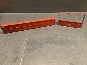 2pc lot set Vintage Metal MAC/? Tools Socket Holder Tray