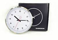 "The Crosby Stainless Steel Wall Clock 12"" Quartz by Marksson #NO0334"