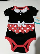 Baby girl  Minnie mouse one piece pajamas body suit size 6-9 months NWT