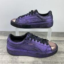 Puma Basket Platform Women's Shoes 366169 02 Purple Rose Gold Metallic Size 8.5