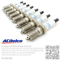 ACDELCO PLATINUM SPARK PLUGS V8 304 INJECTED 5.0L [HOLDEN VN-VP-VR-VS COMMODORE]