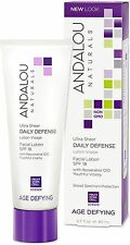 Andalou Naturals Age Defying Daily Defense Facial Lotion SPF 18 2.70 oz
