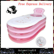 US Ship Adult PVC Portable Bathtub Inflatable Bath Tub Air Pump Outdoors