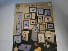 Vtg 1978 Sports That Count Cross Stitch Pattern Book Football Tennis Baseball