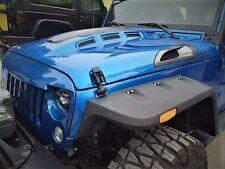 Jeep Wrangler JK 07-16 Avenger Style Sport Hood With Real Carbon Fiber Vents