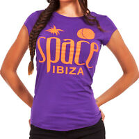 OFFICIAL Space Ibiza Women's T Shirt PURPLE Native Logo Orange Large RRP £50