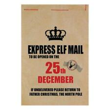 EXPRESS ELF MAIL SANTA'S MAIL SACK DELIVER PRESENTS FATHER CHRISTMAS STOCKING