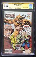 Monsters Unleashed #1 CGC 9.6 SS signed Stan Lee Box Edition variant Cover 2017