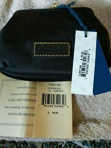 Dooney & Bourke Black Nylon Kisslock Coin Purse Wallet nwt YJ407 BB