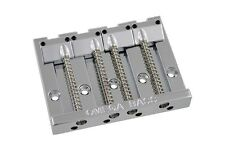 "NEW - Omega Badass Style 4-String Bass Bridge, 2-1/4"" - CHROME"