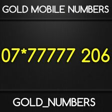 GOLD MEMORABLE EASY VIP BUSINESS MOBILE NUMBER 07*77777206