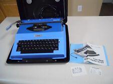 Vintage Mid Century Modern Blue ROYAL Apollo 12-GT Electric Typewriter - Works
