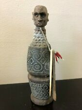West Timor Anthropomorhic Carved Lime & Tobacco Container with Implements.