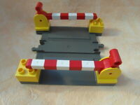 LEGO DUPLO EISENBAHN BAHNÜBERGANG ALTES GRAU