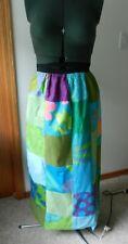Vintage 1970's Gisella Heinemann patchwork wrap maxi skirt hippie boho chic