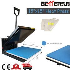 "BetterSub Clamshell 15""x15"" Heat Press Machine Sublimation Transfer T-shirts Us"