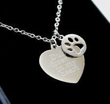 Personalised Pet Loss Memorial Necklace Pendant FREE Engraving Keepsake Gifts