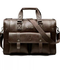 Baillr Large Dark Brown Soft Leather Messenger Briefcase Bag Men's