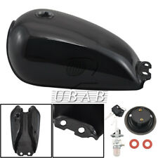 Vivid Black Motorcycle 9L 2.4 Gallon Fuel Gas Tank Cover For Suzuki GN125 GN250