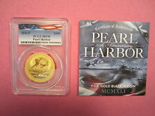 2016 Gold Pearl Harbor Anniversary Commemorative PCGS MS70 Memorial Day Special