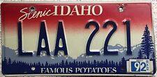 FREE UK POSTAGE American Idaho Famous Potatoes USA License Number Plate LAA 221