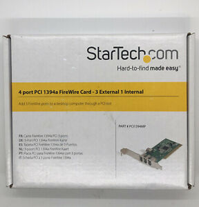 StarTech.com 4 port PCI 1394a FireWire Card - 3 External 1 Internal - PCI1394MP