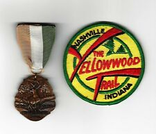 BOY SCOUT  THE YELLOWWOOD TRAIL MEDAL & PP LOT     INDIANA
