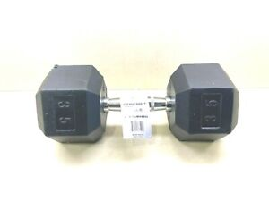35 Lb SINGLE Weider Rubber Hex Dumbbell.  Brand New. CAP