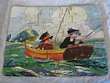 1932 King Features Syndicate Just Kids Comic Strip Jigsaw Puzzle Fishing