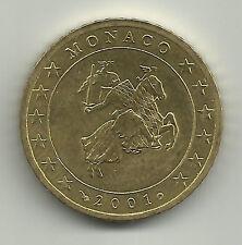 MONACO 2001 -  50 cent uit de starterkit - UNC-kwaliteit!!!