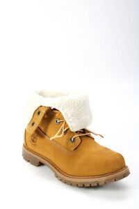Timberland Womens Suede Waterproof Lace Up Ankle Boots Beige Size 7
