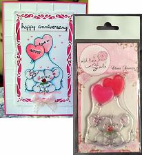 Wedding Stamps - MICE WITH BALLOONS Wild Rose Studio clear cling stamp CL285
