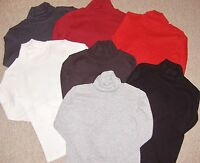 GIRLS ROLL NECK TOP/UNDER SWEATER IN AGES 4 TO 12 YEARS VARIOUS COLOURS BNIP
