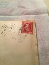 US Postage Stamp & Letter George Washington Two Cent 2¢ Rare Stamp 1910/1911
