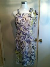 BCBGMAXAZRIA Size M Tiered Spackle Sapphire no UPC $180 Beauiful Dress