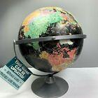 Replogle Starlight Globe 12 inch Black Metal Base Stand Raised Relief Swivel