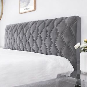 All inclusive Soft Quilted Bedhead Cover Thicken Velvet Headboard Dust Protector