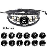 PT_ Cn _ Donna 26 Inglese Lettere Perlina Corda Intrecciata Multi-Strato Bracc