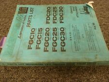 Mitsubishi FDC25 FDC30 Forklift Chassis Mast Attachment Parts Catalog Manual